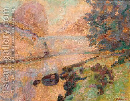 La roche de l'echo a Crozant by Armand Guillaumin - Reproduction Oil Painting