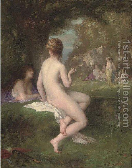 Diana bathing with the nymphs by Armand Laroche - Reproduction Oil Painting