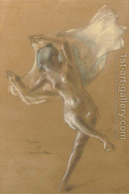 The dancer - a study by Armand Rassenfosse - Reproduction Oil Painting