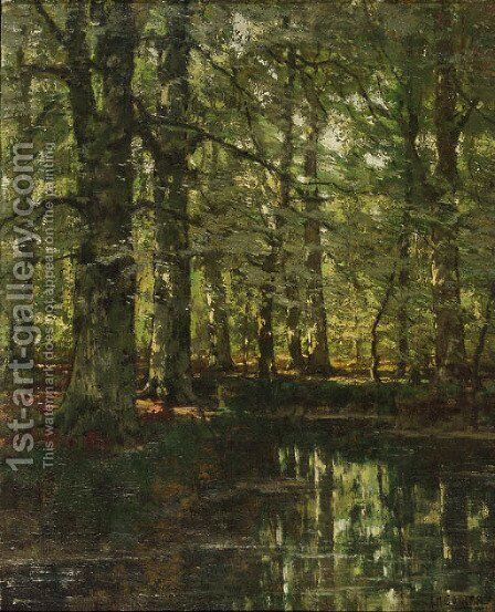 A forest pond by Arnold Marc Gorter - Reproduction Oil Painting