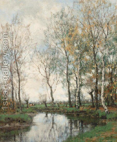 Birches along the Vordense beek by Arnold Marc Gorter - Reproduction Oil Painting