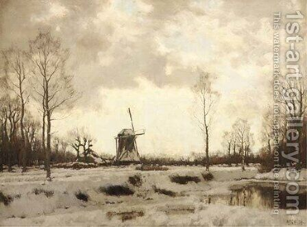 Homeward bound in winter by Arnold Marc Gorter - Reproduction Oil Painting