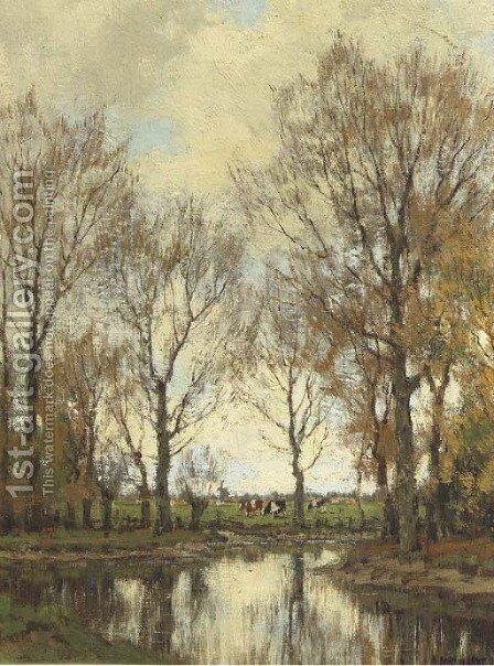 The Vordense beek by Arnold Marc Gorter - Reproduction Oil Painting