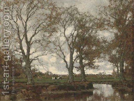 The Vordense Beek in Autumn by Arnold Marc Gorter - Reproduction Oil Painting