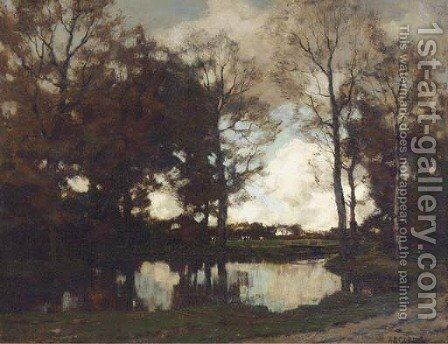 The Vordense beek in autumn 2 by Arnold Marc Gorter - Reproduction Oil Painting