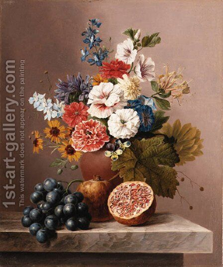 Still life by Arnoldus Bloemers - Reproduction Oil Painting