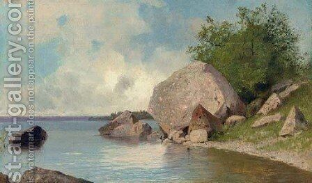 At the River Bank by Arsenii Ivanovich Meshcherskii - Reproduction Oil Painting