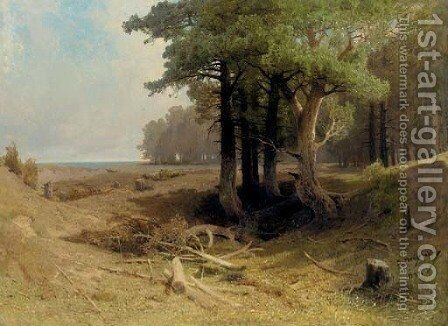 Forest Landscape by Arsenii Ivanovich Meshcherskii - Reproduction Oil Painting