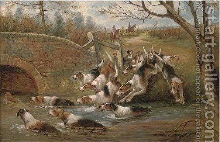 Into the river by Arthur Alfred Davis - Reproduction Oil Painting