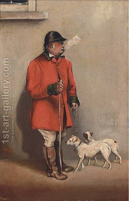 The kennel keeper by Arthur Batt - Reproduction Oil Painting
