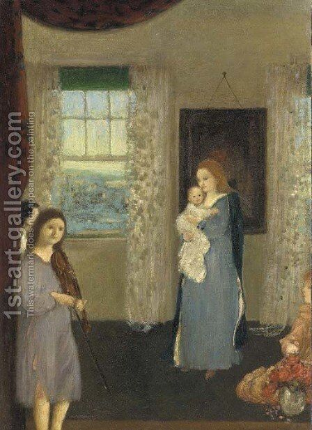 Home by Arthur Bowen Davies - Reproduction Oil Painting
