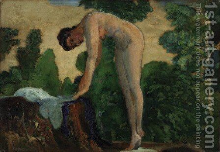Nude in Forest by Arthur Bowen Davies - Reproduction Oil Painting