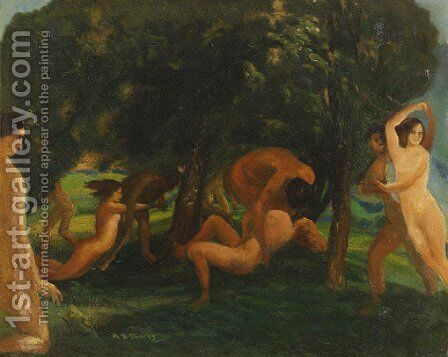 The Bawdy Wind by Arthur Bowen Davies - Reproduction Oil Painting