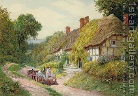 Ashton-under-Hill, Worcestershire by Arthur Claude Strachan - Reproduction Oil Painting