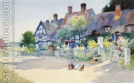The Village Pump by Arthur Claude Strachan - Reproduction Oil Painting