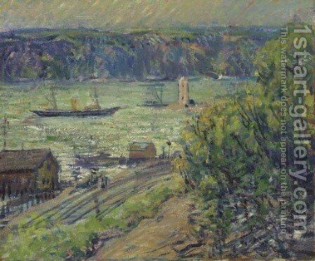 The Palisades from Riverdale by Arthur C. Goodwin - Reproduction Oil Painting