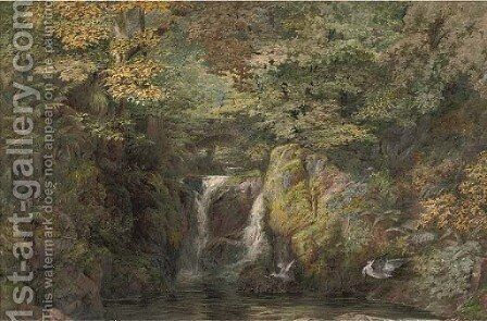 Rydal Fall, Westmoreland by Arthur Croft - Reproduction Oil Painting