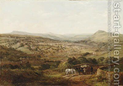 A View of Halifax, Yorkshire by Arthur Fitzwilliam Tait - Reproduction Oil Painting