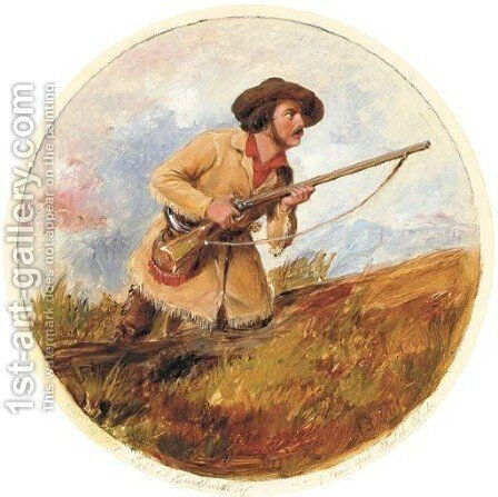 Ready to Fire by Arthur Fitzwilliam Tait - Reproduction Oil Painting