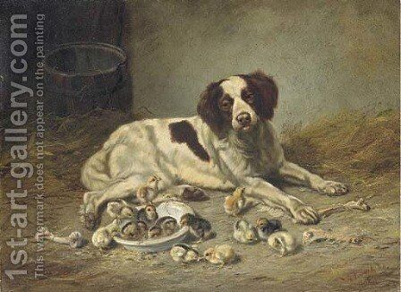 Satisfied Good Nature Now all the world may Dine by Arthur Fitzwilliam Tait - Reproduction Oil Painting