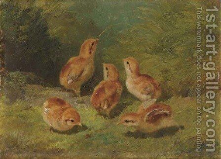 Young Grouse by Arthur Fitzwilliam Tait - Reproduction Oil Painting