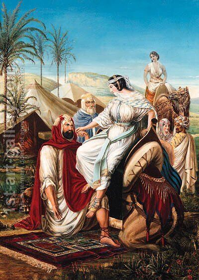 The Arrival of Rebecca by Arthur Georges Baron Von Ramberg - Reproduction Oil Painting