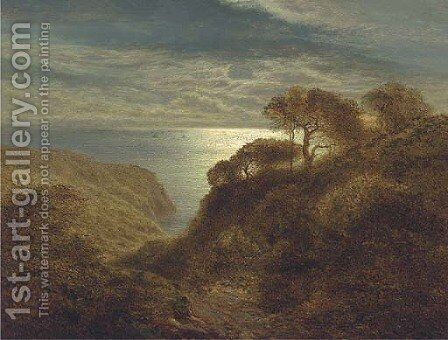 Evening, near Bettws-y-Coed, North Wales by Arthur Gilbert - Reproduction Oil Painting