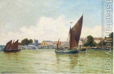 Putney on Thames by Arthur Gordon - Reproduction Oil Painting