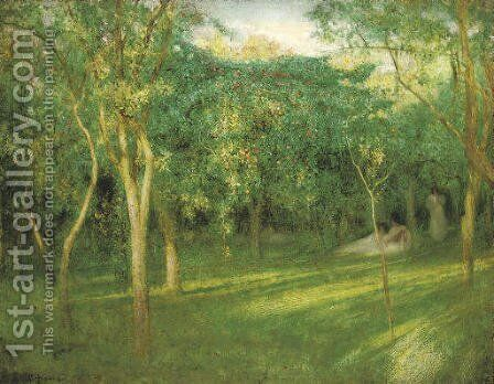 Orchard by Arthur Hacker - Reproduction Oil Painting