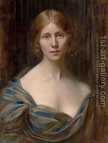 Reverie by Arthur Hacker - Reproduction Oil Painting