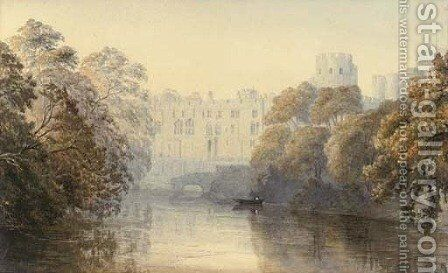 Warwick Castle Painting By Arthur Henry Enock Reproduction 1st