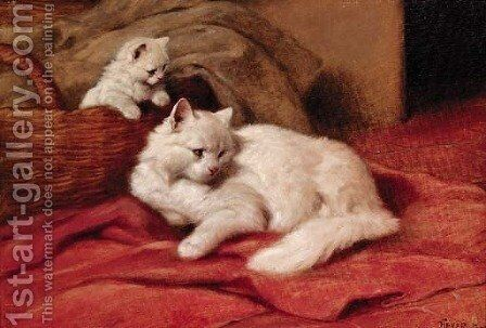A distraction at bedtime by Arthur Heyer - Reproduction Oil Painting