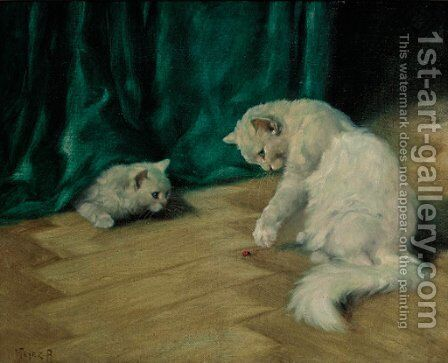 Playtime 2 by Arthur Heyer - Reproduction Oil Painting