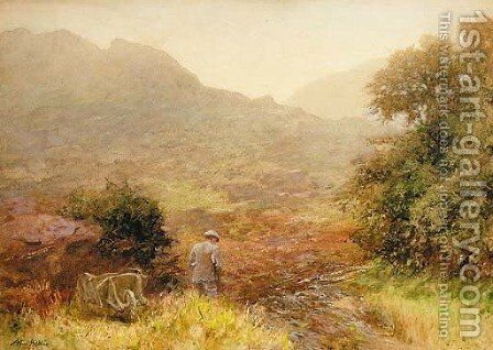 Rough shooting, Patterdale by Arthur Hopkins - Reproduction Oil Painting