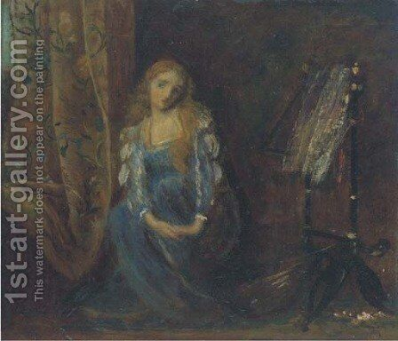 Sigh no more, ladies by Arthur Hughes - Reproduction Oil Painting