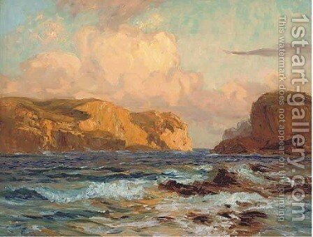 Passing the straits by Arthur John Black - Reproduction Oil Painting