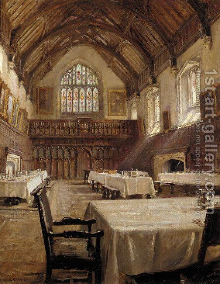 College Hall, Eton by Arthur Paine Garratt - Reproduction Oil Painting