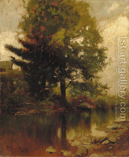 Wooded Landscape by Arthur Parton - Reproduction Oil Painting