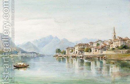 Lake Maggiore by Arthur Perigal - Reproduction Oil Painting