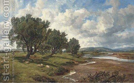 On the Tweed at Nesbitt by Arthur Perigal - Reproduction Oil Painting