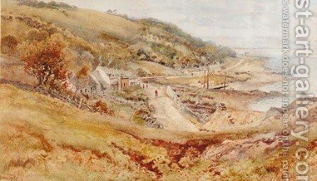 The village of Corrie, Isle of Arran by Arthur Tucker - Reproduction Oil Painting