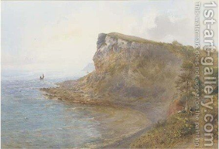 Seaton Bay, Devon by Arthur W. Perry - Reproduction Oil Painting