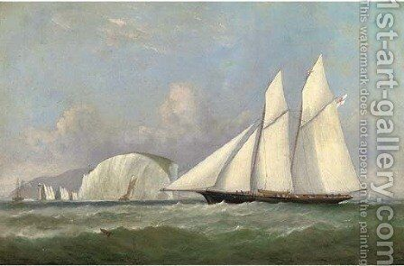 The Marquis of Ailsa's schooner Lady Evelyn off the Needles by Arthur Wellington Fowles - Reproduction Oil Painting