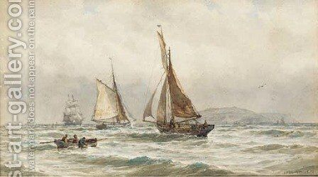 Shipping off the coast by Arthur Wilde Parsons - Reproduction Oil Painting