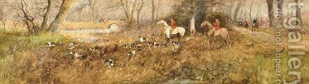 The chase by Arthur Willett - Reproduction Oil Painting