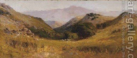 Valley Landscape by Arthur William Best - Reproduction Oil Painting