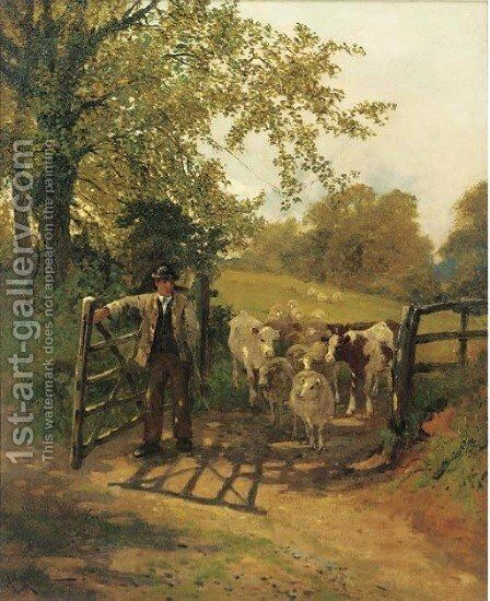 Pastures new by Arthur Walker Redgate - Reproduction Oil Painting