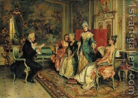 The recital by Arturo Ricci - Reproduction Oil Painting