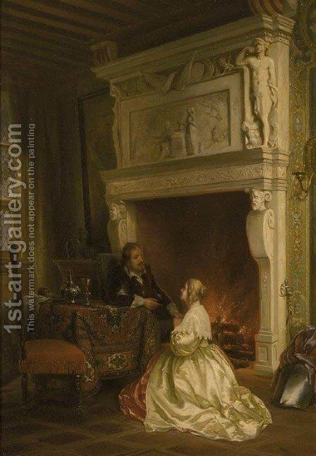 A sign of admiration by Ary Johannes Lamme - Reproduction Oil Painting