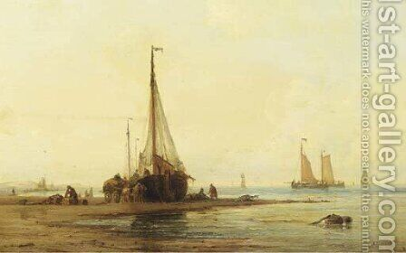 Unloading the catch by Ary Pleijsier - Reproduction Oil Painting